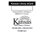 State Library of Kansas Library Cards